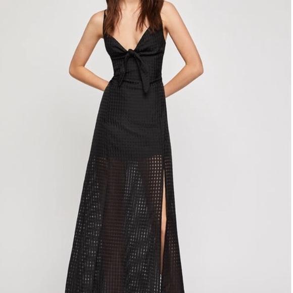 BCBGeneration Dresses & Skirts - BCBGeneration black maxi dress w/ front bow size 6